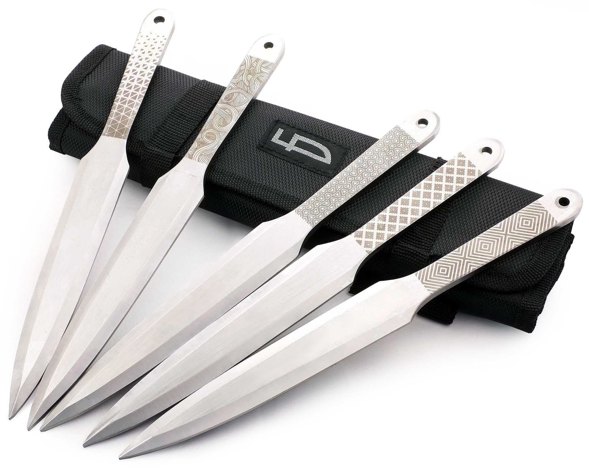 Набор из 5 метательных ножей Орнамент, M-132SU набор из 5 метательных ножей m 113