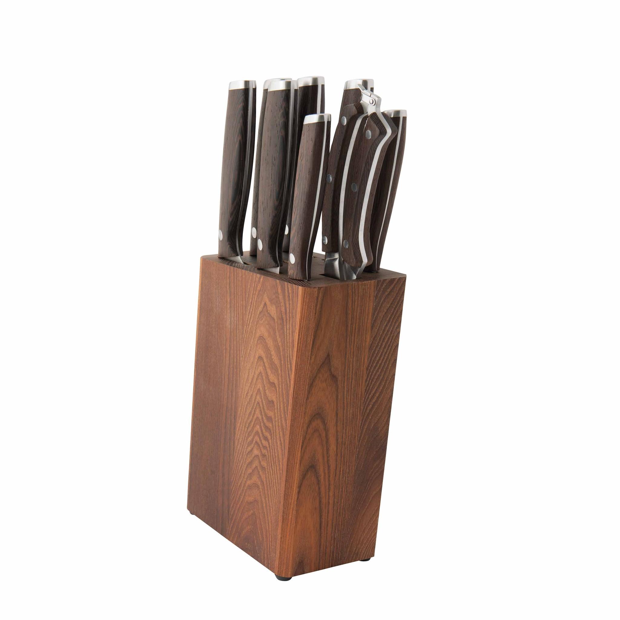 Набор ножей Dark Wood BergHOFF, 9 приборов, 1309010, сталь X30Cr13, дерево
