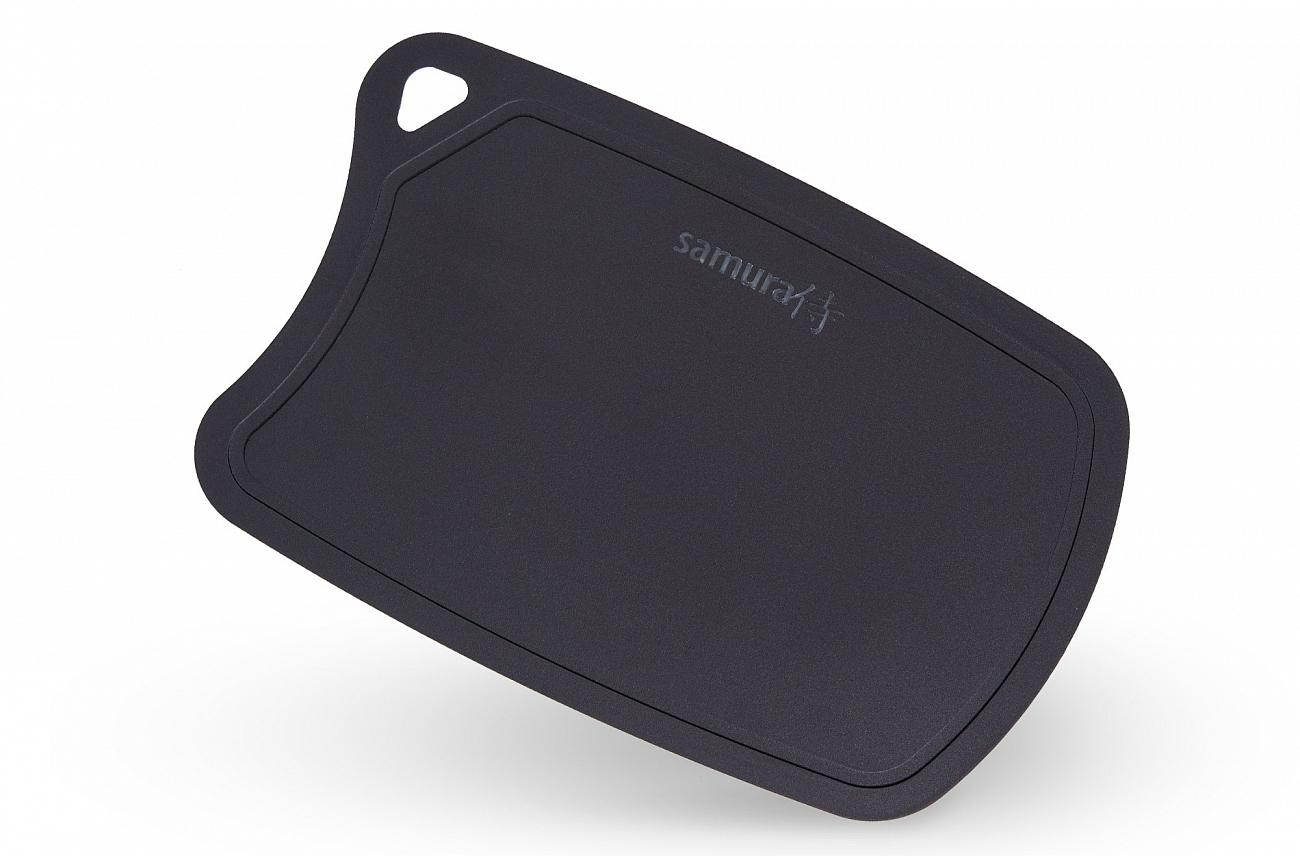 Доска Samura термопластиковая, 380х250х2 мм, черная