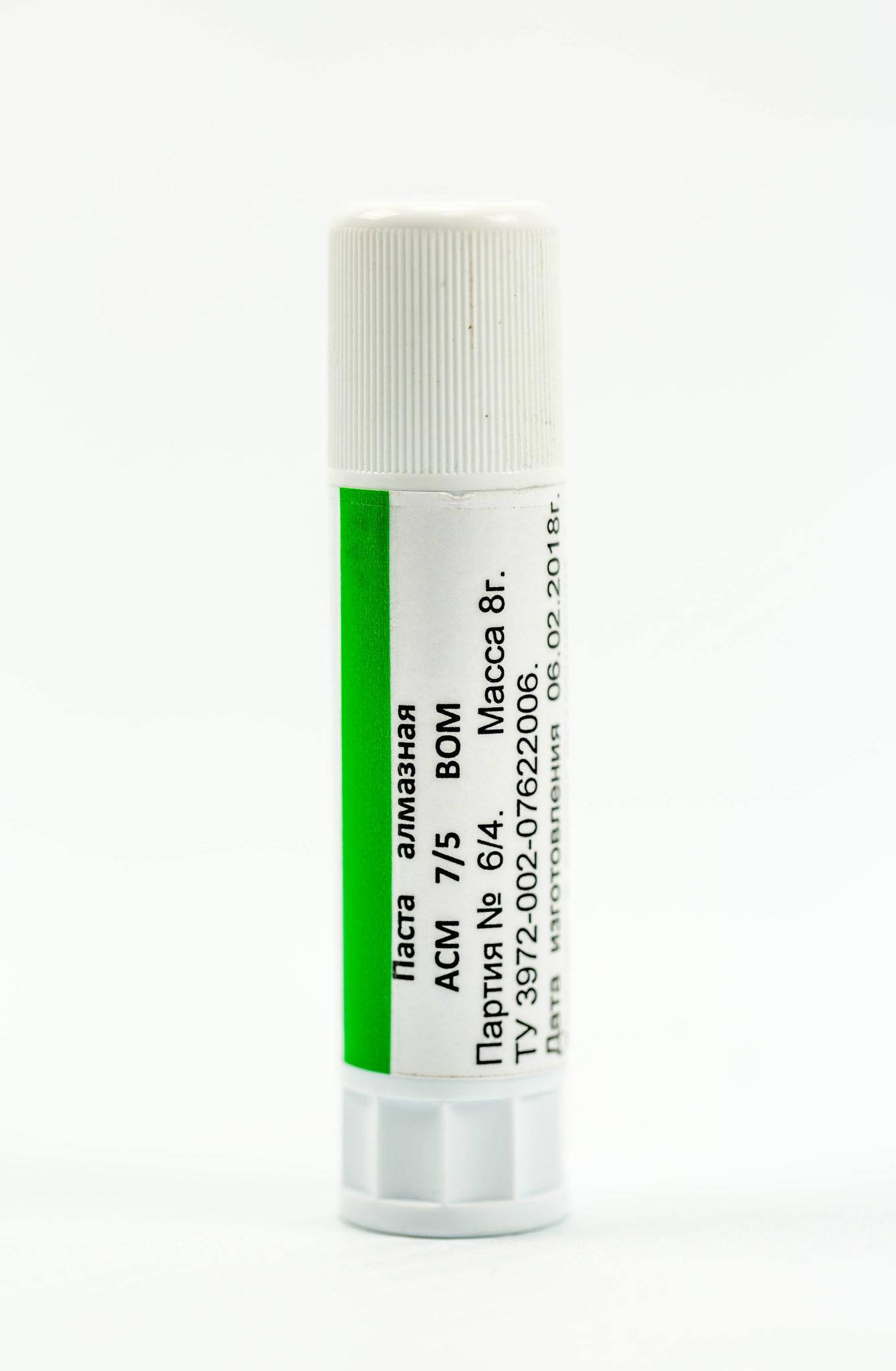 Алмазная паста BOM ACM 7/5, 8 гр