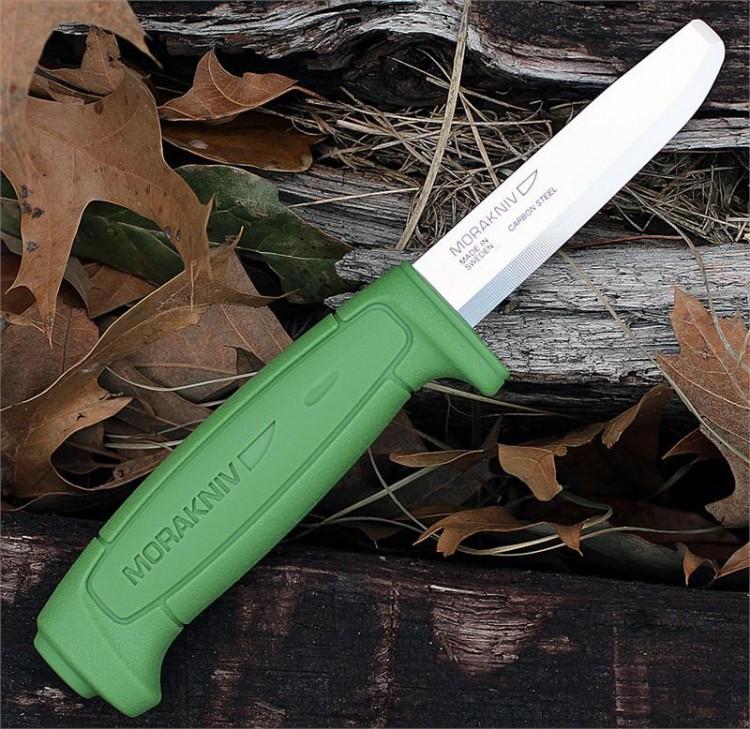 Фото 4 - Нож с фиксированным лезвием Morakniv SAFE, углеродистая сталь, рукоять пластик, зеленый