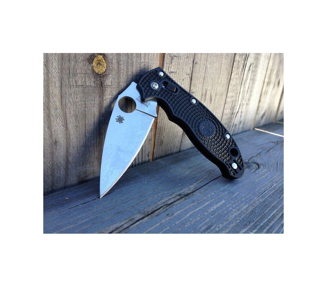 Фото 4 - Нож складной Manix 2 Lightweight Spyderco 101PBK2, сталь Carpenter CTS™ - BD1 Alloy Satin Plain, рукоять пластик FRCP, чёрный