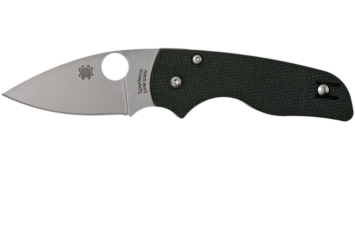 Фото 12 - Нож складной Lil' Native - Spyderco 230GP, сталь Crucible CPM® S30V™ Satin Plain, рукоять стеклотекстолит G10, чёрный