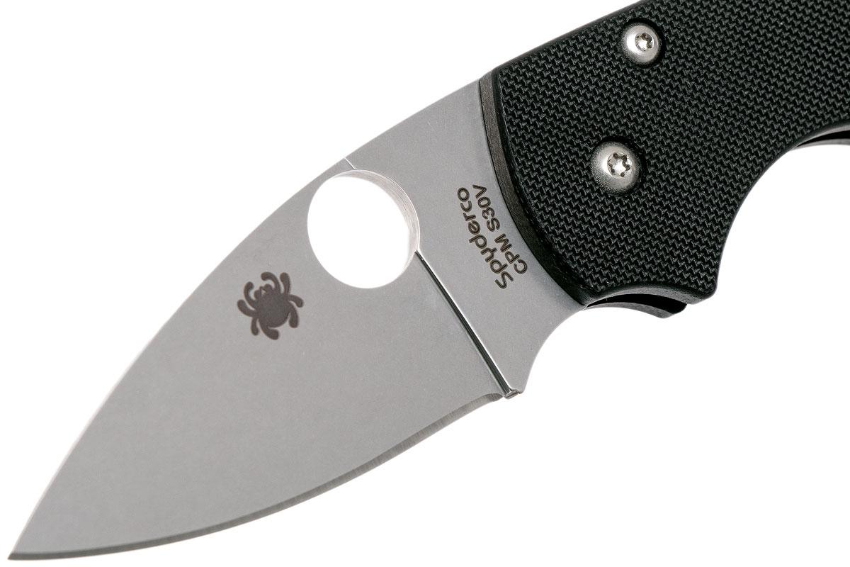 Фото 14 - Нож складной Lil' Native - Spyderco 230GP, сталь Crucible CPM® S30V™ Satin Plain, рукоять стеклотекстолит G10, чёрный