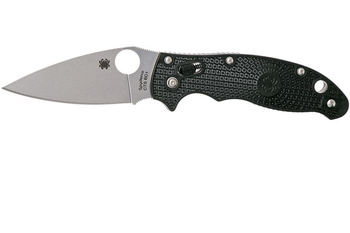 Фото 9 - Нож складной Manix 2 Lightweight Spyderco 101PBK2, сталь Carpenter CTS™ - BD1 Alloy Satin Plain, рукоять пластик FRCP, чёрный