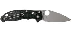 Нож складной Manix 2 Lightweight Spyderco 101PBK2, сталь Carpenter CTS™ - BD1 Alloy Satin Plain, рукоять пластик FRCP, чёрный