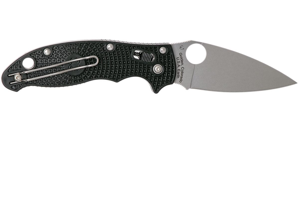 Фото 10 - Нож складной Manix 2 Lightweight Spyderco 101PBK2, сталь Carpenter CTS™ - BD1 Alloy Satin Plain, рукоять пластик FRCP, чёрный