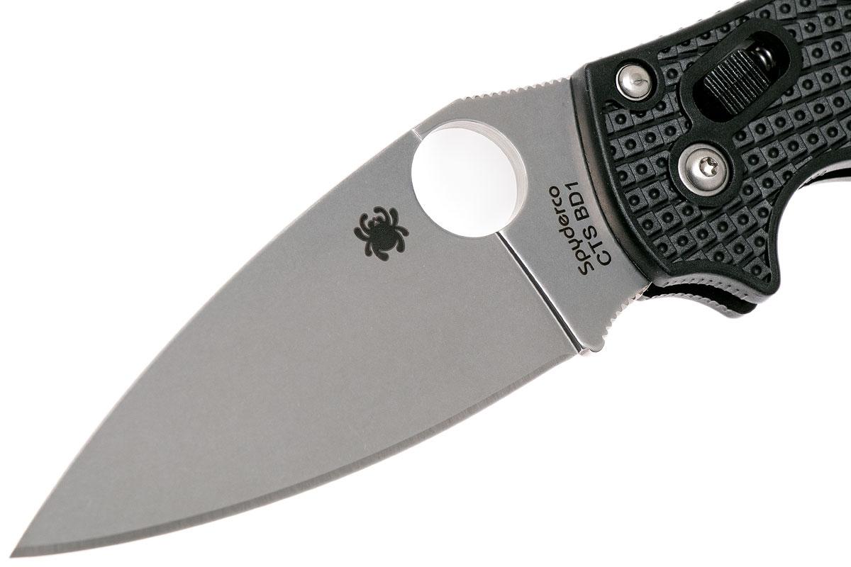 Фото 6 - Нож складной Manix 2 Lightweight Spyderco 101PBK2, сталь Carpenter CTS™ - BD1 Alloy Satin Plain, рукоять пластик FRCP, чёрный