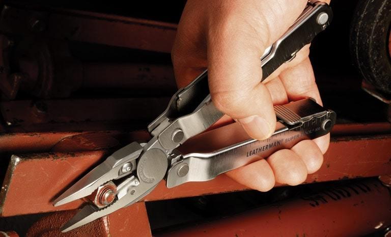 Фото 9 - Мультитул Leatherman Super Tool 300 серебристый 19 функций 115 мм