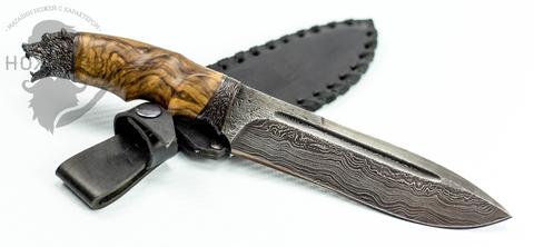 Авторский Нож из Дамаска №63, Кизляр. Вид 4