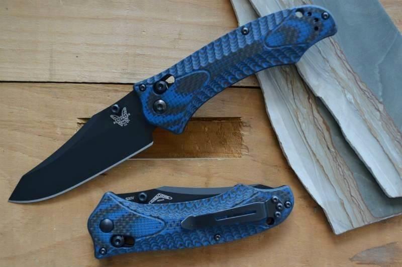 Фото 7 - Складной нож Benchmade 950BK-1801 Rift Limited Edition, сталь CPM-S30V, рукоять G10/карбон