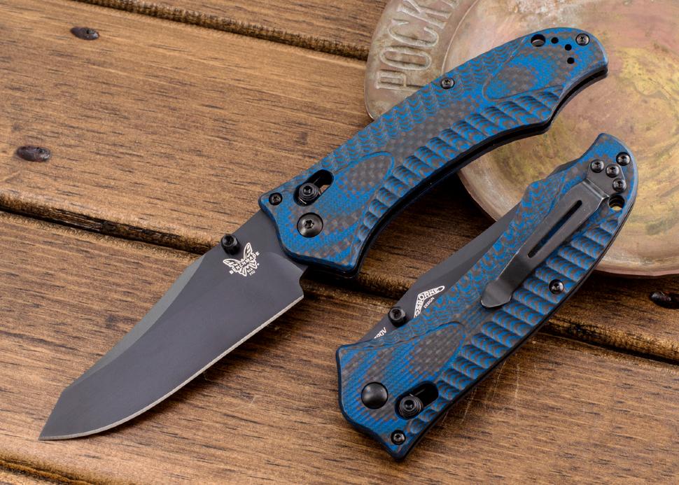 Фото 3 - Складной нож Benchmade 950BK-1801 Rift Limited Edition, сталь CPM-S30V, рукоять G10/карбон