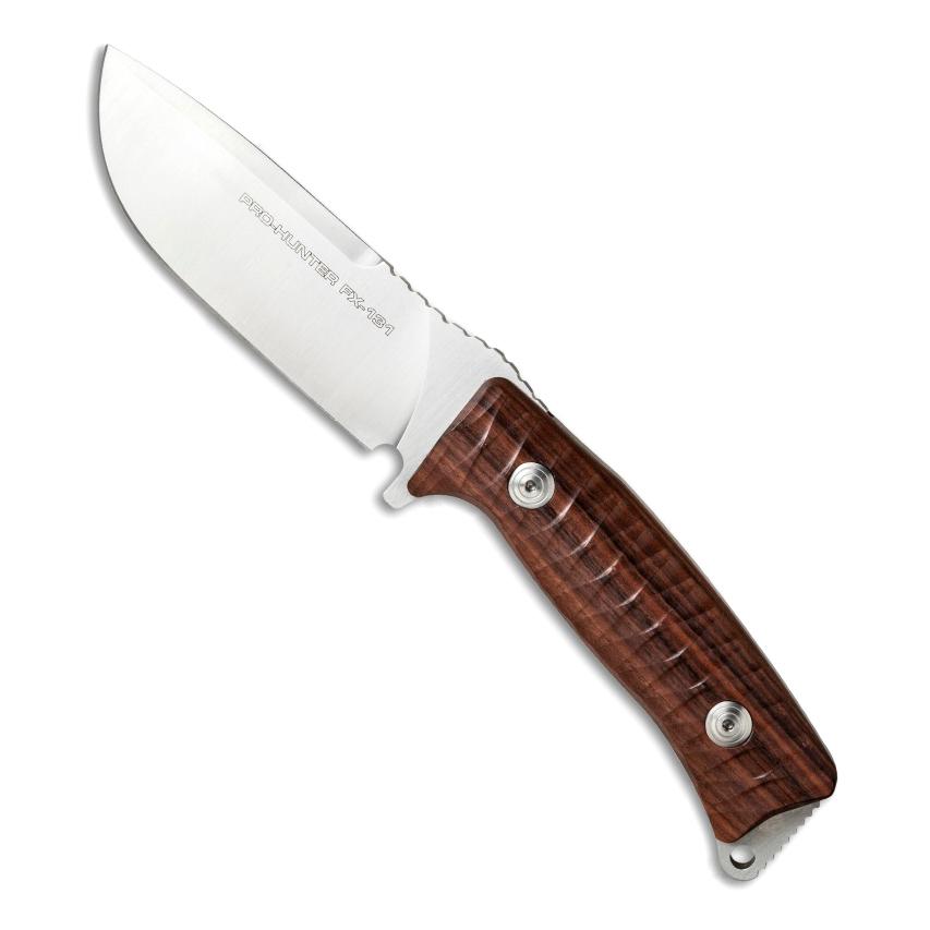 Фото 11 - Нож Fox Pro-Hunter, сталь N690, рукоять Ziricote Wood, коричневый