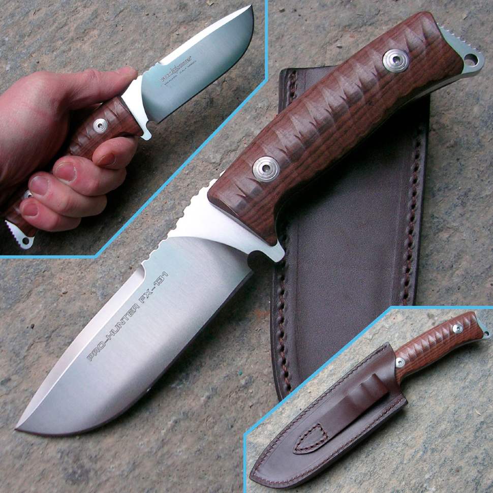 Фото 12 - Нож Fox Pro-Hunter, сталь N690, рукоять Ziricote Wood, коричневый