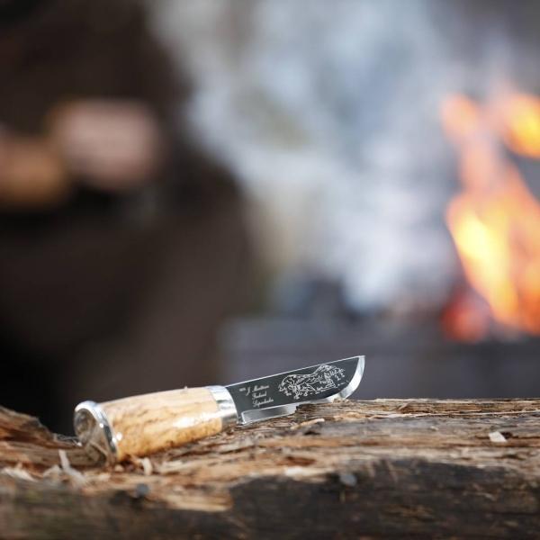 Фото 7 - Нож Marttiini Lapp 230, сталь X55CrMo14, рукоять карельская береза