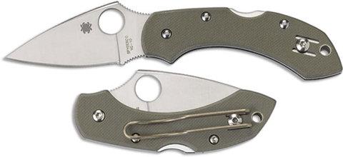 Складной нож Dragonfly 2 Foliage Green - Spyderco C28GPFG, сталь VG-10 Satin Plain, рукоять стеклотекстолит G10, зелёный. Вид 2
