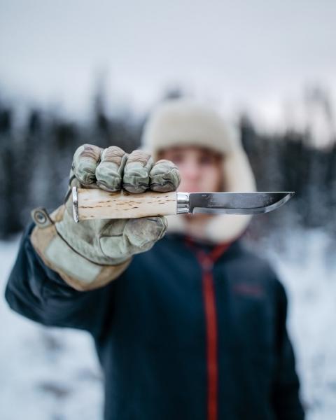 Фото 9 - Нож Marttiini Lapp 230, сталь X55CrMo14, рукоять карельская береза