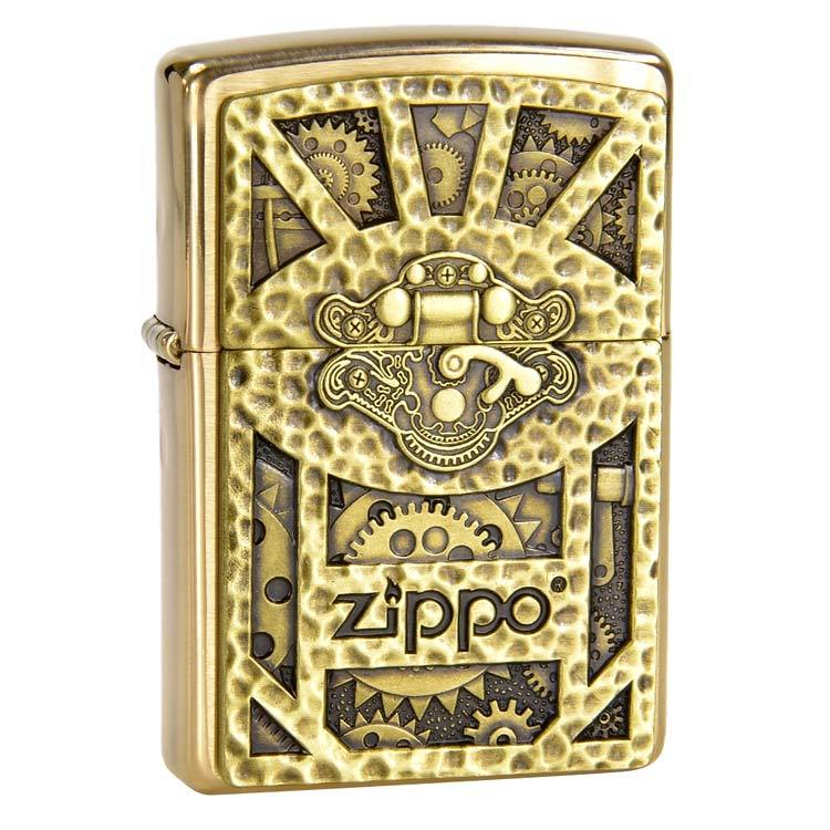 Зажигалка ZIPPO Classic с покрытием Brushed Brass, медь/сталь, золотистая, матовая, 36x12x56 мм