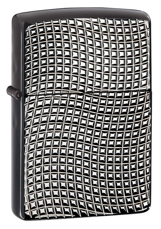 Зажигалка ZIPPO Armor™ с покрытием High Polish Black Ice® зажигалка zippo slim black ice 3 1 5 5 см