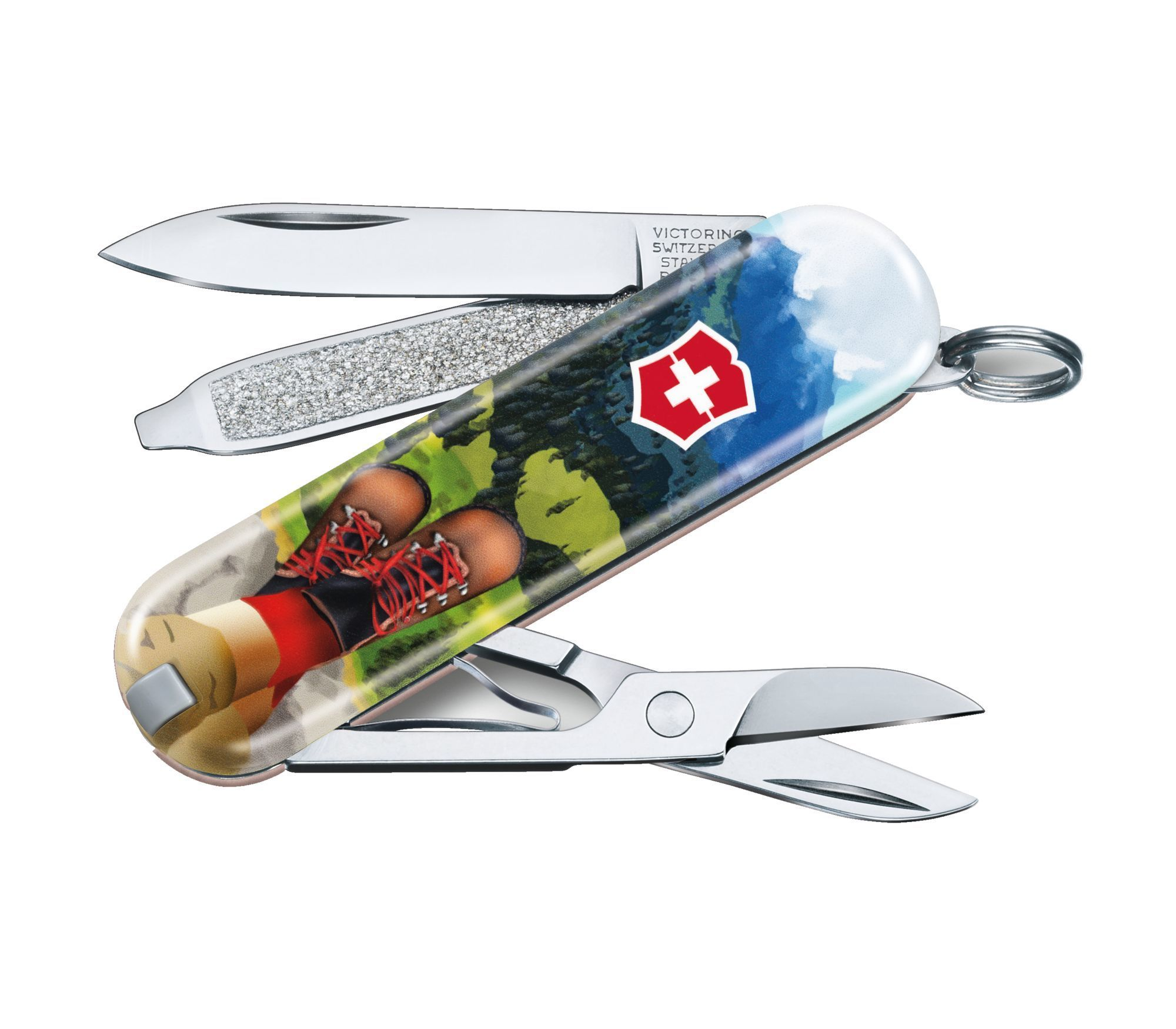 Складной нож Victorinox Classic LE2020 I Love Hiking, 58 мм 7 функций