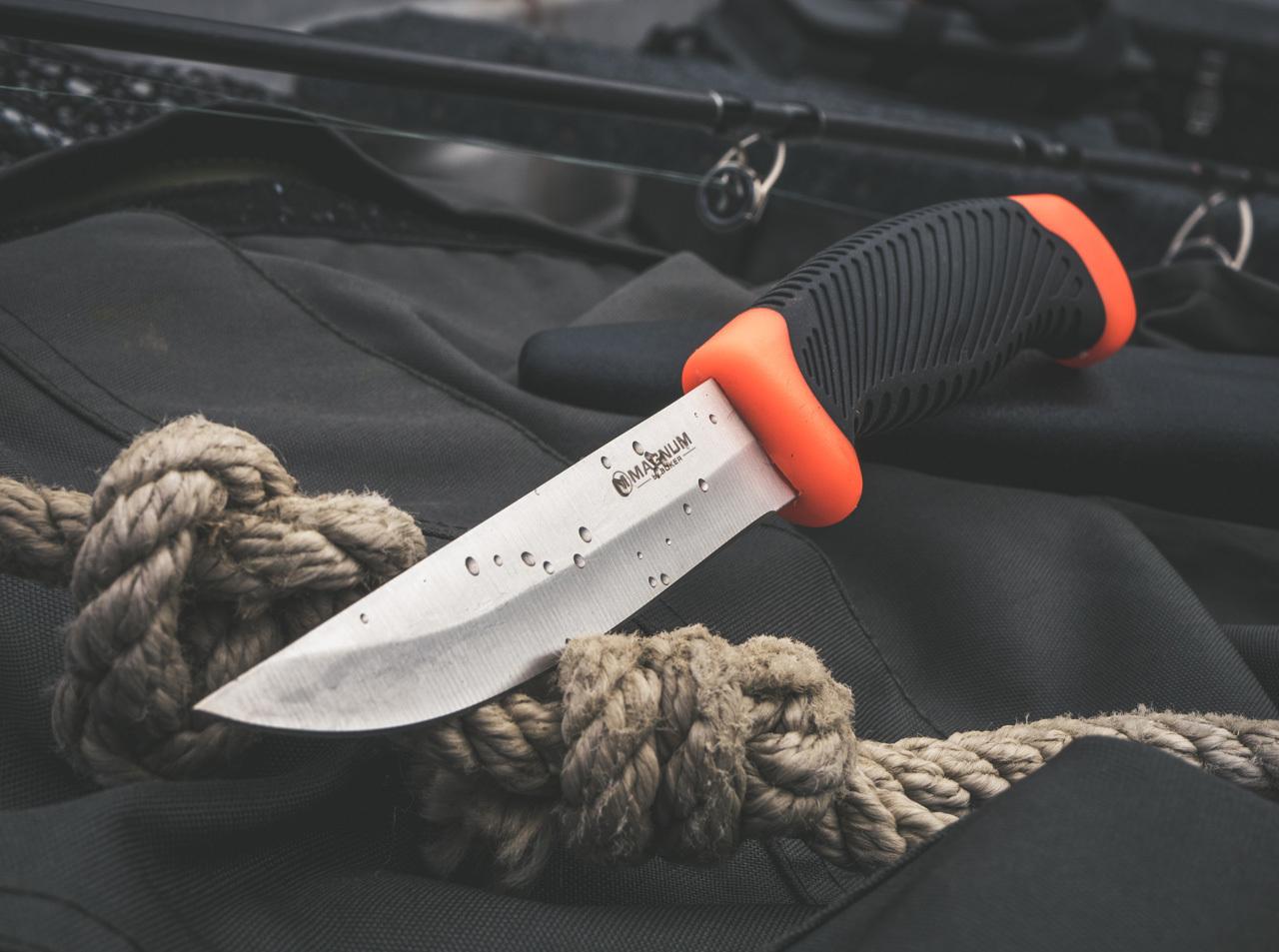 Фото 10 - Нож рыбацкий с фиксированным клинком Magnum Falun, сталь 420 Satin Plain, рукоять полипропилен/термопластик, 02RY100 от Boker