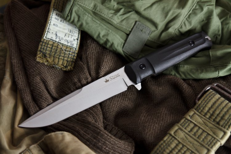 Фото 7 - Тактический нож Delta AUS-8 Satin+SW, Кизляр от Kizlyar Supreme