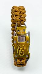 Браслет из паракорда с ножом, золотой, фото 3