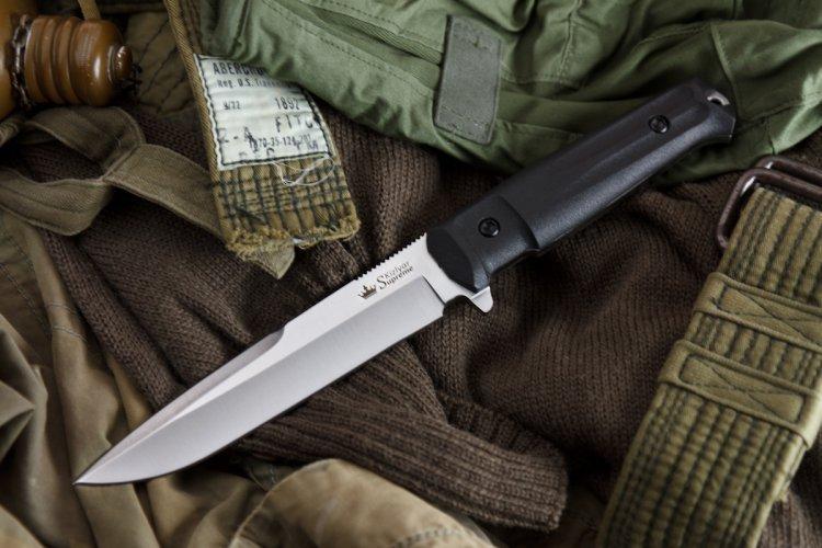 Фото 9 - Тактический нож Delta AUS-8 Satin+SW, Кизляр от Kizlyar Supreme