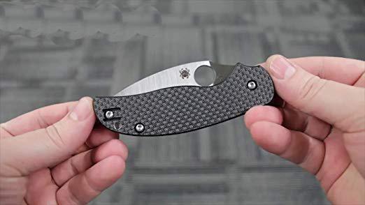 Фото 7 - Нож складной Sage® 5 Compression Lock Spyderco 123CFPCL, сталь Crucible CPM® S30V™ Satin Plain, рукоять карбон/стеклотекстолит G10, чёрный