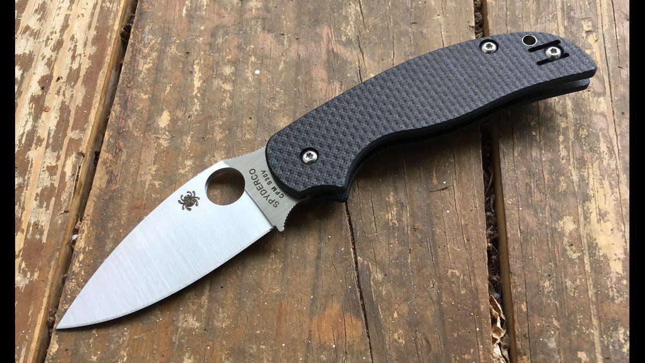 Фото 8 - Нож складной Sage® 5 Compression Lock Spyderco 123CFPCL, сталь Crucible CPM® S30V™ Satin Plain, рукоять карбон/стеклотекстолит G10, чёрный