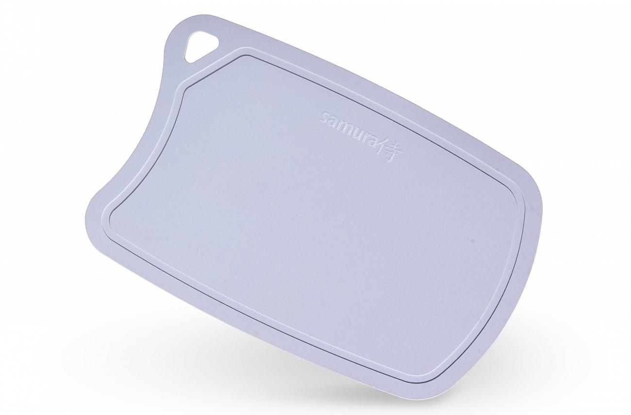 Доска Samura термопластиковая, 380х250х2 мм, серая