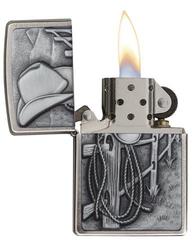 Зажигалка ZIPPO Classic Ковбой с покрытием Brushed Chrome, фото 2