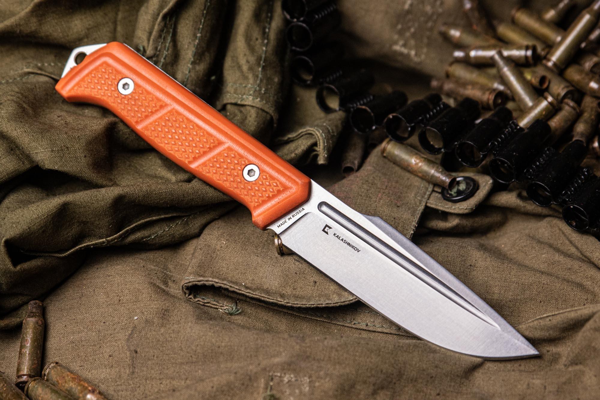 Нож Baikal D2 SW, рукоять G10, Kizlyar Supreme и Kalashnikov