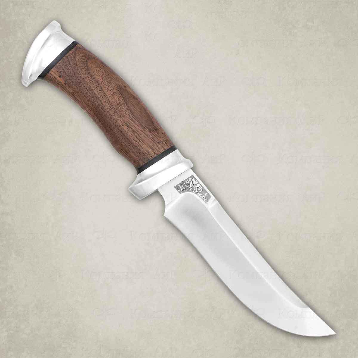 Нож разделочный АиР Росомаха, сталь К-340, рукоять дерево