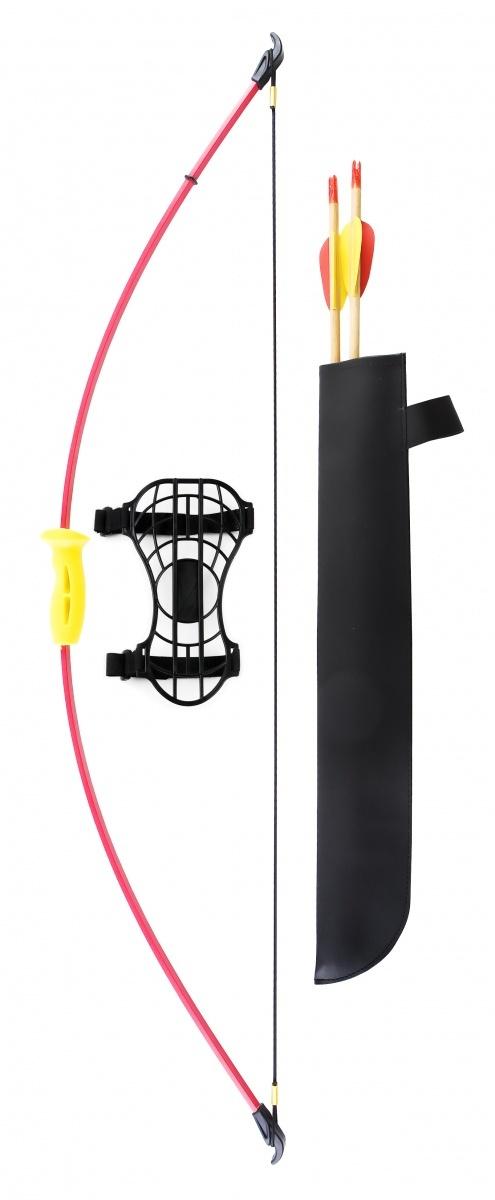 Лук детский классический красный 4,5кг, 93см (колчан, 2 стрелы, крага, мишень) лук и стрелы oem 3 bow sc 0 b30