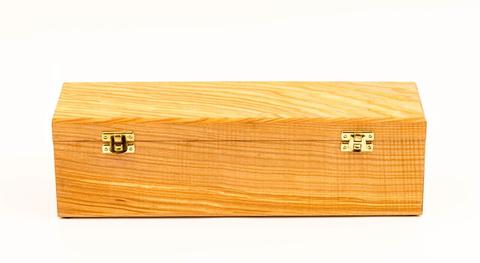 Шкатулка для ножа с двойным дном, ясень, бесцветное масло. Вид 1
