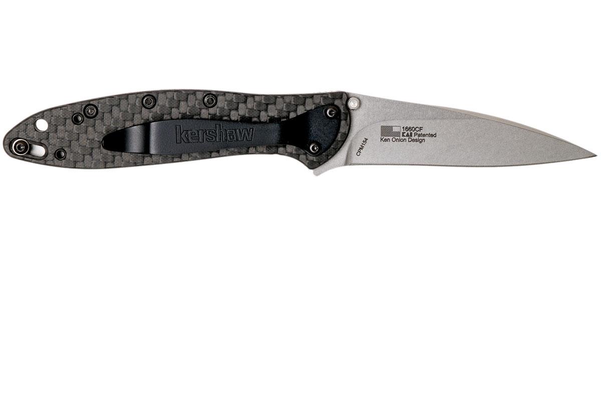 Фото 8 - Складной нож Leek, Carbon Fiber - Kershaw 1660CF, сталь Crucible CPM® 154, рукоять карбон