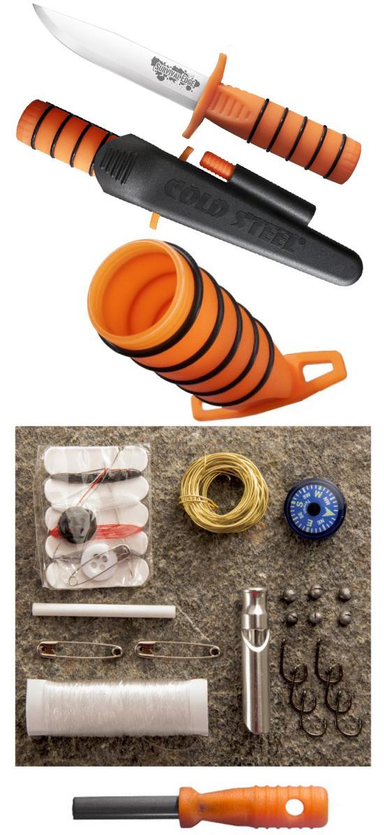 Фото 2 - Нож для выживания Cold Steel Survival Edge (Orange) 80PH, сталь 4116, рукоять полипропилен