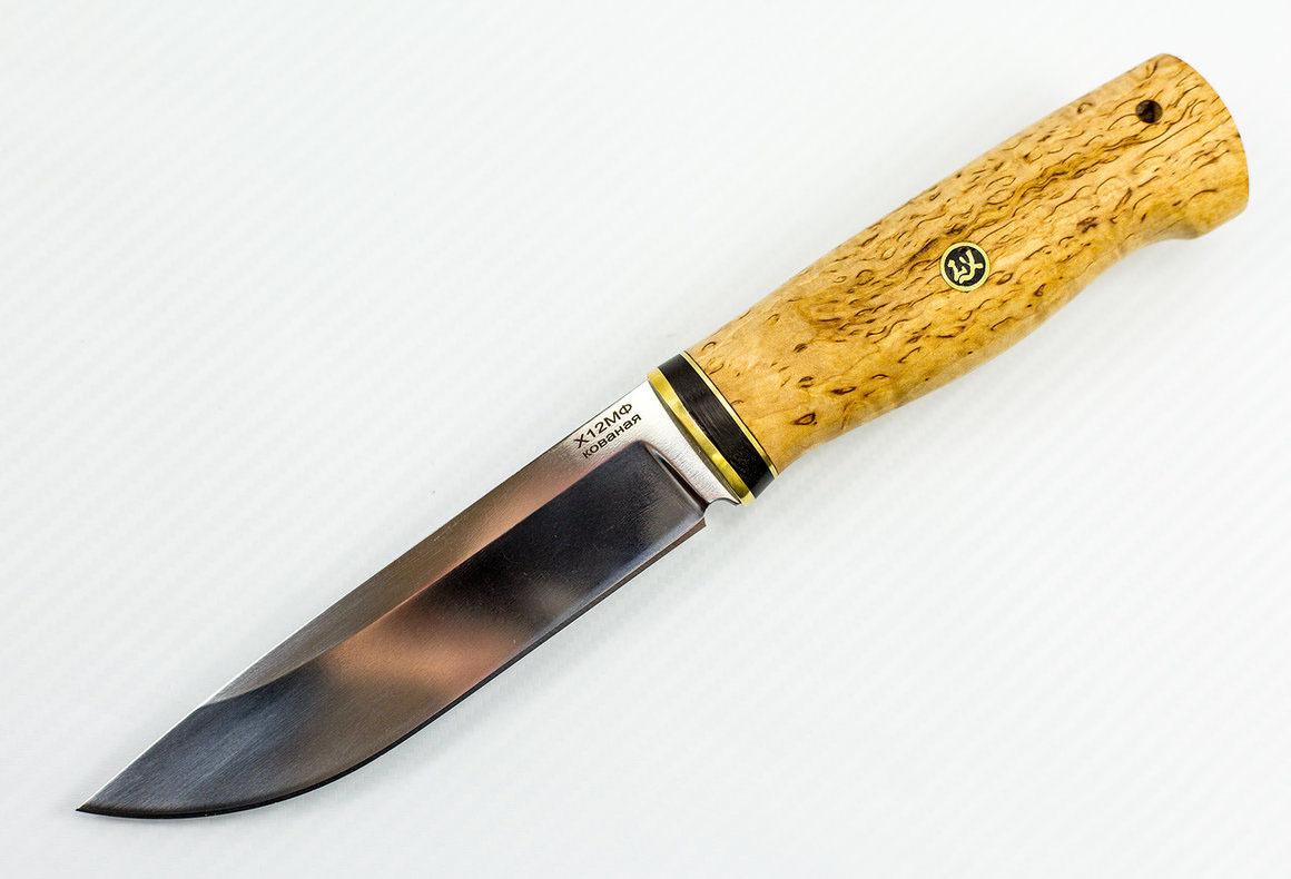 Нож Урал, сталь Х12МФ, карельская берёза