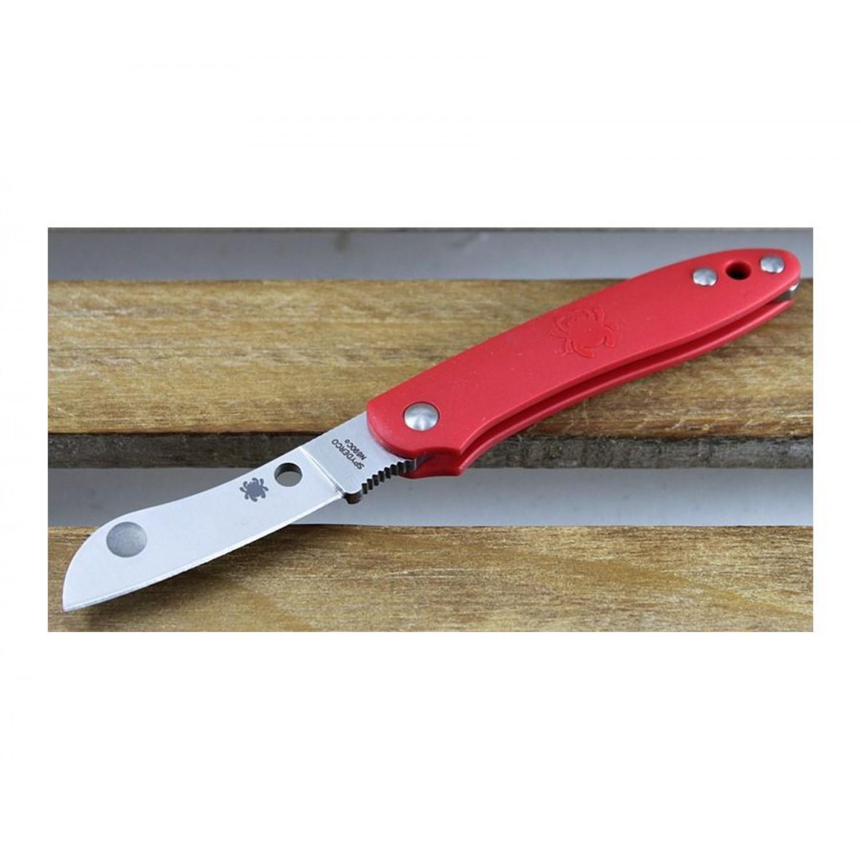 Фото 7 - Нож складной Roadie™ Spyderco 189PRD TSA Knife (Transportation Security Administration), сталь N690Co Satin Plain, рукоять термопластик FRN, красный