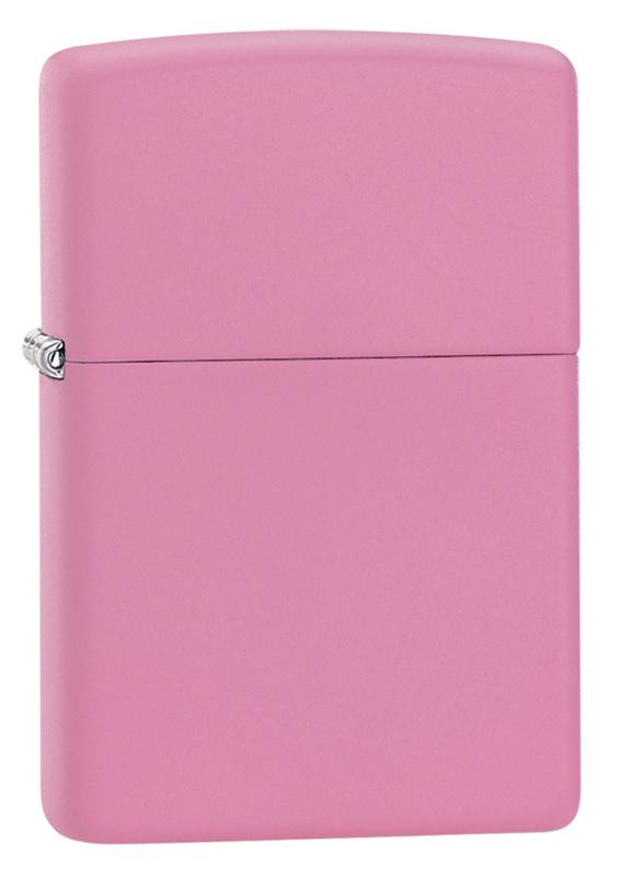 Зажигалка ZIPPO Classic с покрытием Pink Matte, латунь/сталь, розовая, матовая, 36x12x56 мм зажигалка zippo classic с покрытием orange matte латунь сталь оранжевая матовая 36x12x56 мм