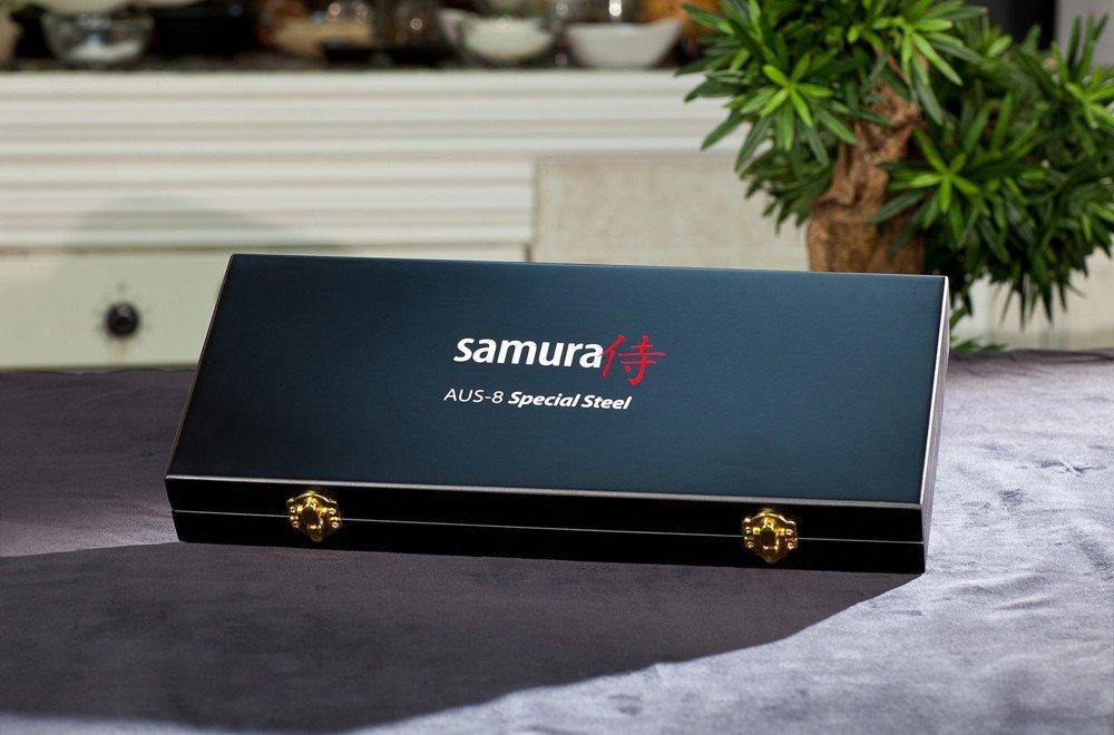 Фото 10 - Набор из 3 кухонных ножей Samura MoV в подарочной коробке -