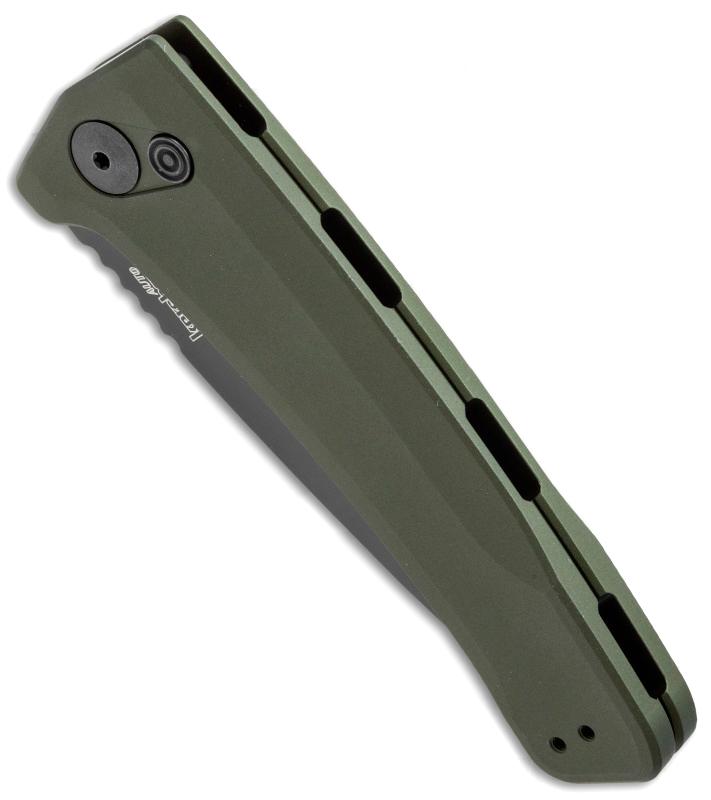 Фото 6 - Полуавтоматический складной нож Launch 3 - Kershaw 7300BLKOL Olive, сталь Crucible CPM® 154, рукоять анодированный алюминий, зеленый