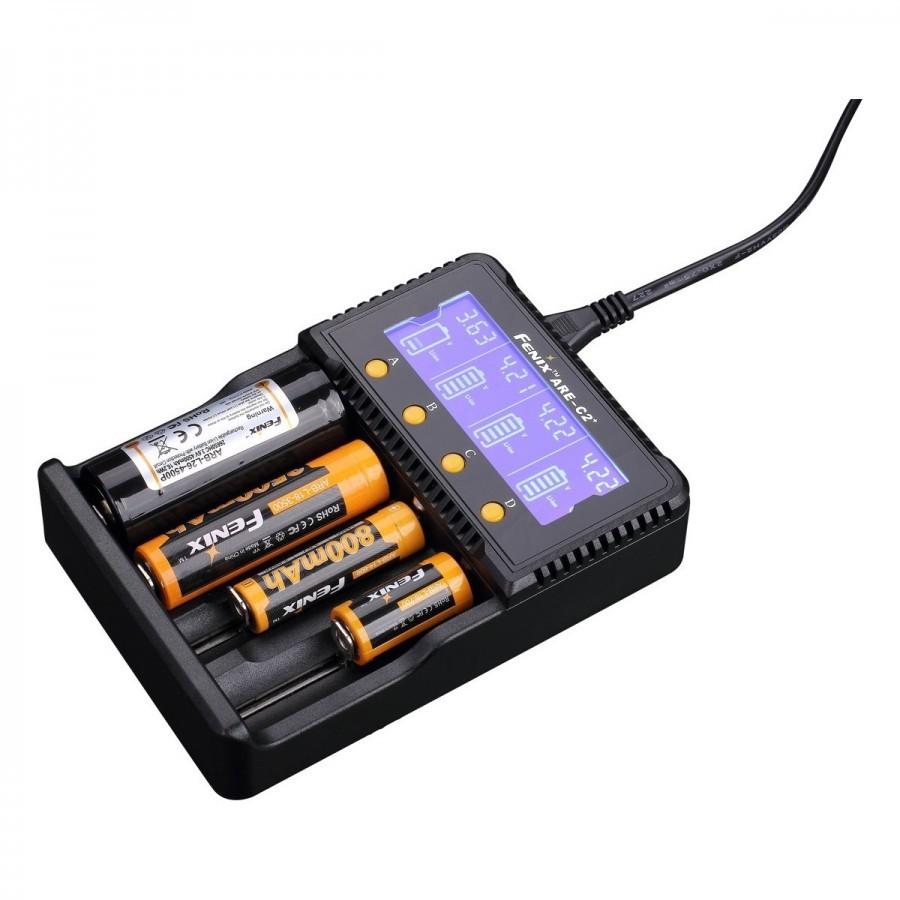 Зарядное устройство Fenix Charger ARE-C2 plus (18650, 16340, 14500, 26650, AA, ААА, С) fenix are c2