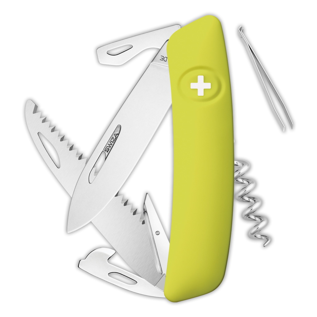 Швейцарский нож SWIZA D05 Standard, 95 мм, 12 функций, салатовый