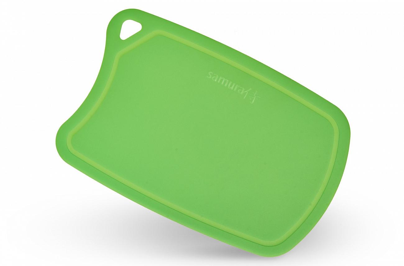 Доска Samura термопластиковая, 380х250х2 мм, зеленая