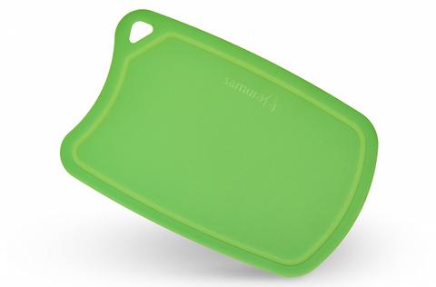 Доска Samura термопластиковая, 380х250х2 мм, зеленая. Вид 1