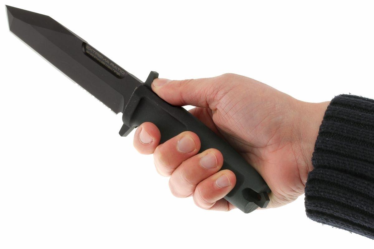 Фото 9 - Нож с фиксированным клинком Extrema Ratio Fulcrum Testudo, сталь Bhler N690, рукоять резина Forprene®