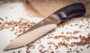 Нож Акула, кованый Х12МФ,  черный граб - Nozhikov.ru