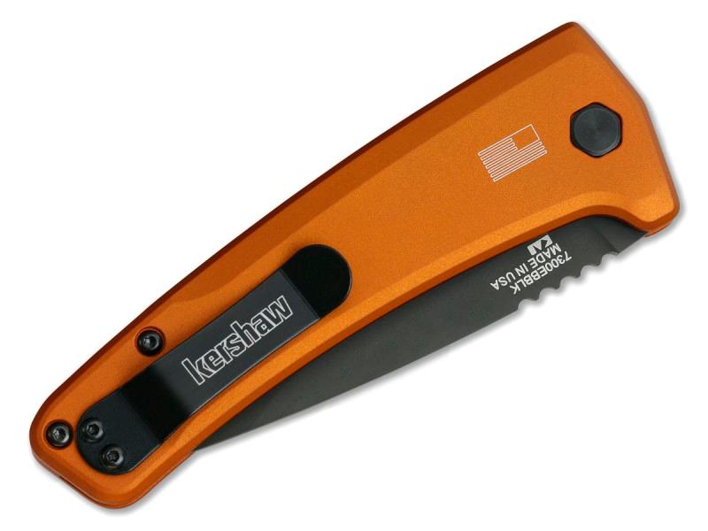 Фото 4 - Складной автоматический нож Kershaw Launch 3 7300EBBLK, сталь CPM 154, рукоять алюминий